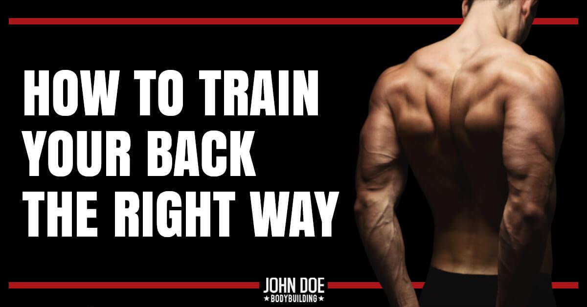 muscular man's back