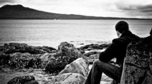 man on shore