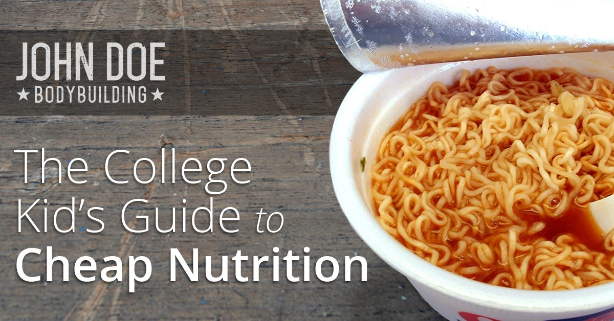 Cheap nutrition for college kids