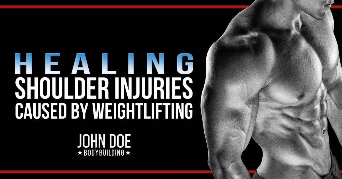 Healing shoulder injuries caused by bodybuilding