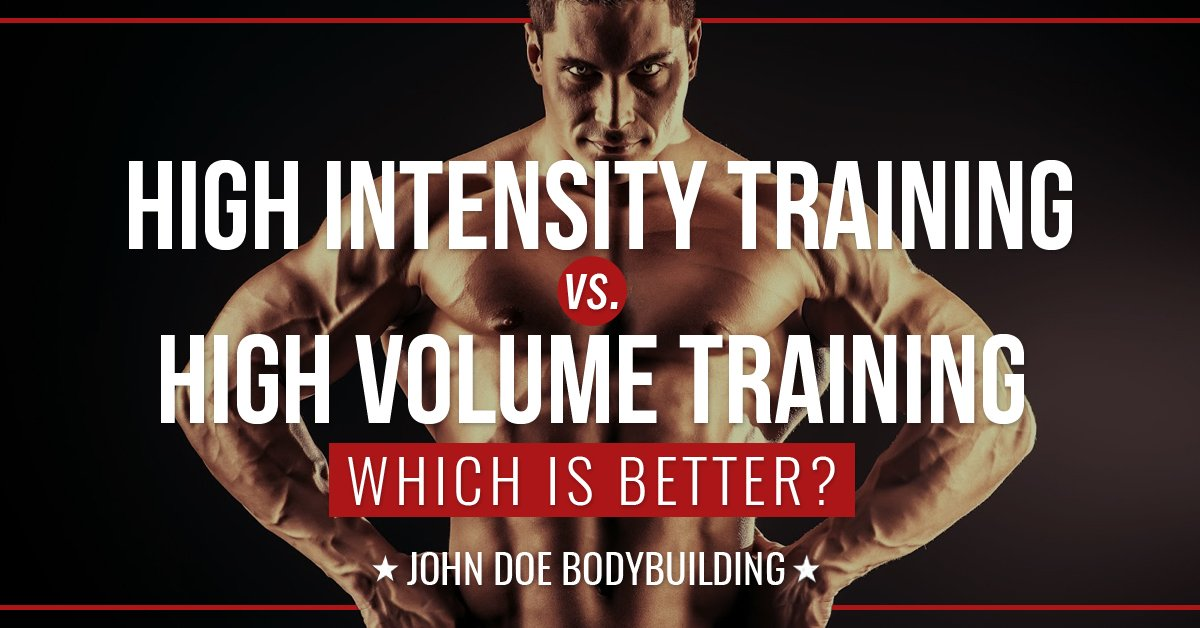 High intensity training versus high volume training