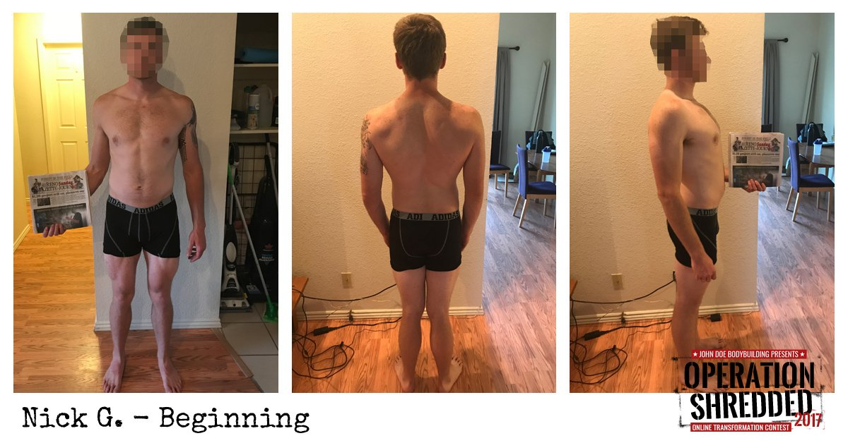 Operation Shredded 2017 Results- Nick G Beginning