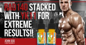 SARMS stack - Proven Peptides RAD140 with YK11