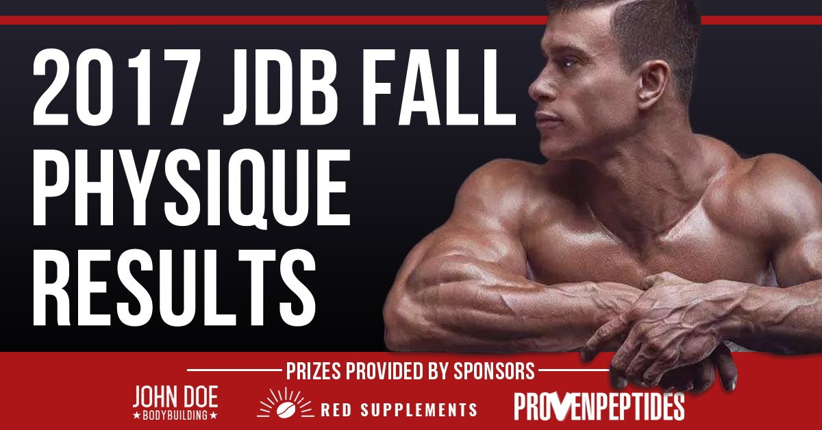 JDB Fall Physique Transformation Competition Results