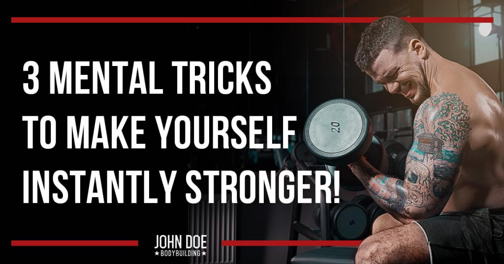 Mental tricks for strength gains