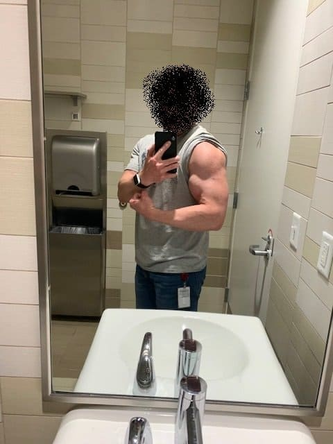 Shredded Ops Review arms after photo
