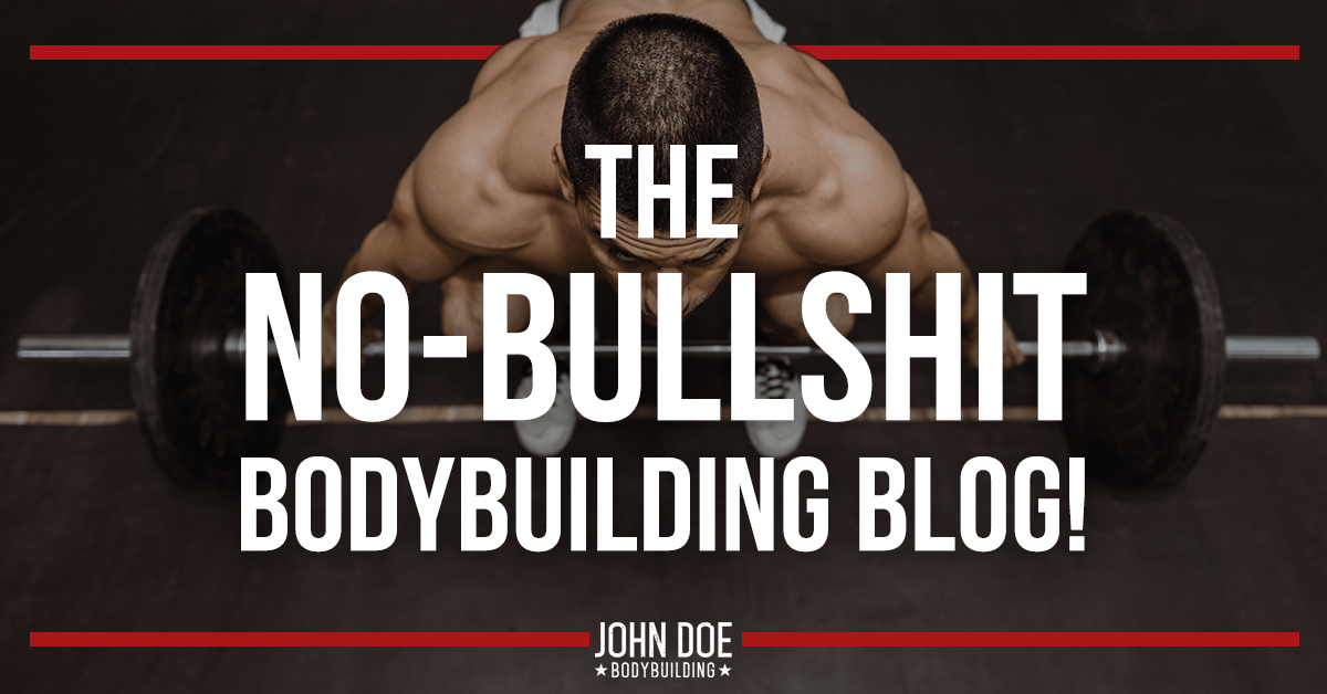 Updates from the no-bullshit bodybuilding blog
