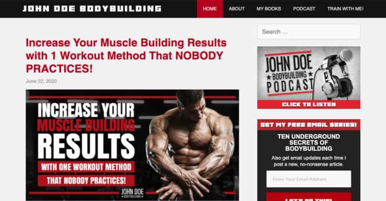 John Doe Bodybuilding website